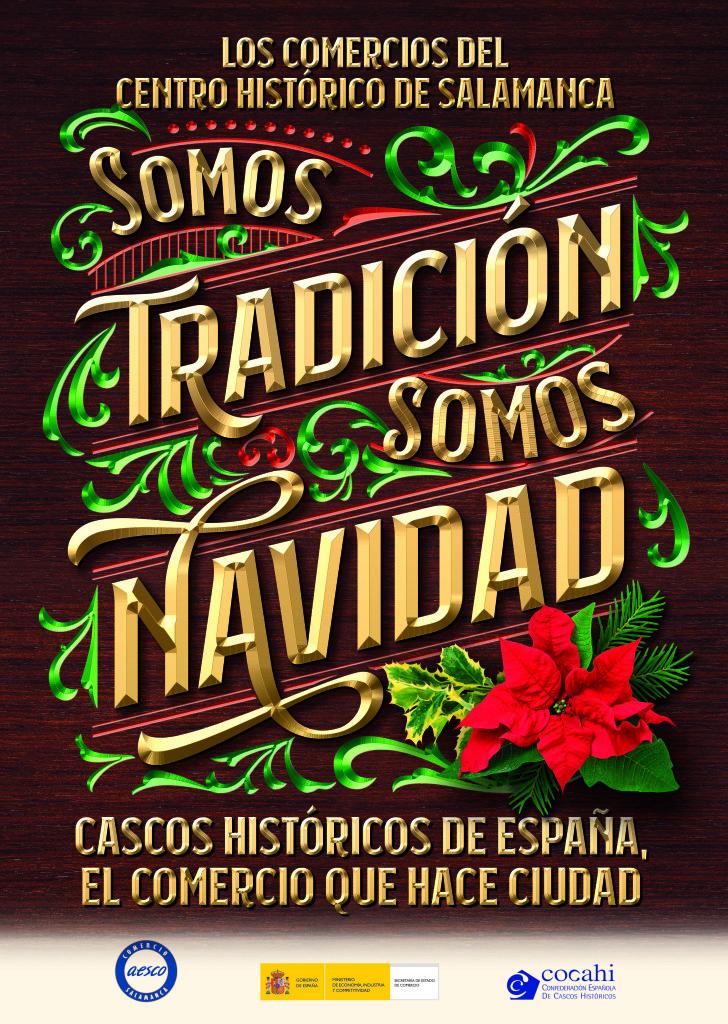 Cartel Somos tradición, somos Navidad